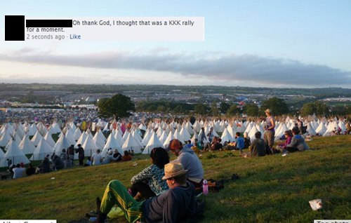 Oh thank God, I thought that was a KKK rally for a moment